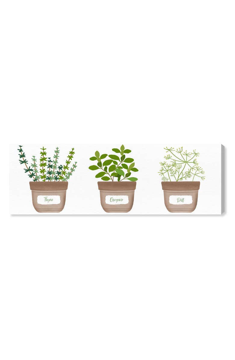 OLIVER GAL Herbs II Canvas Wall Art, Main, color, GREEN