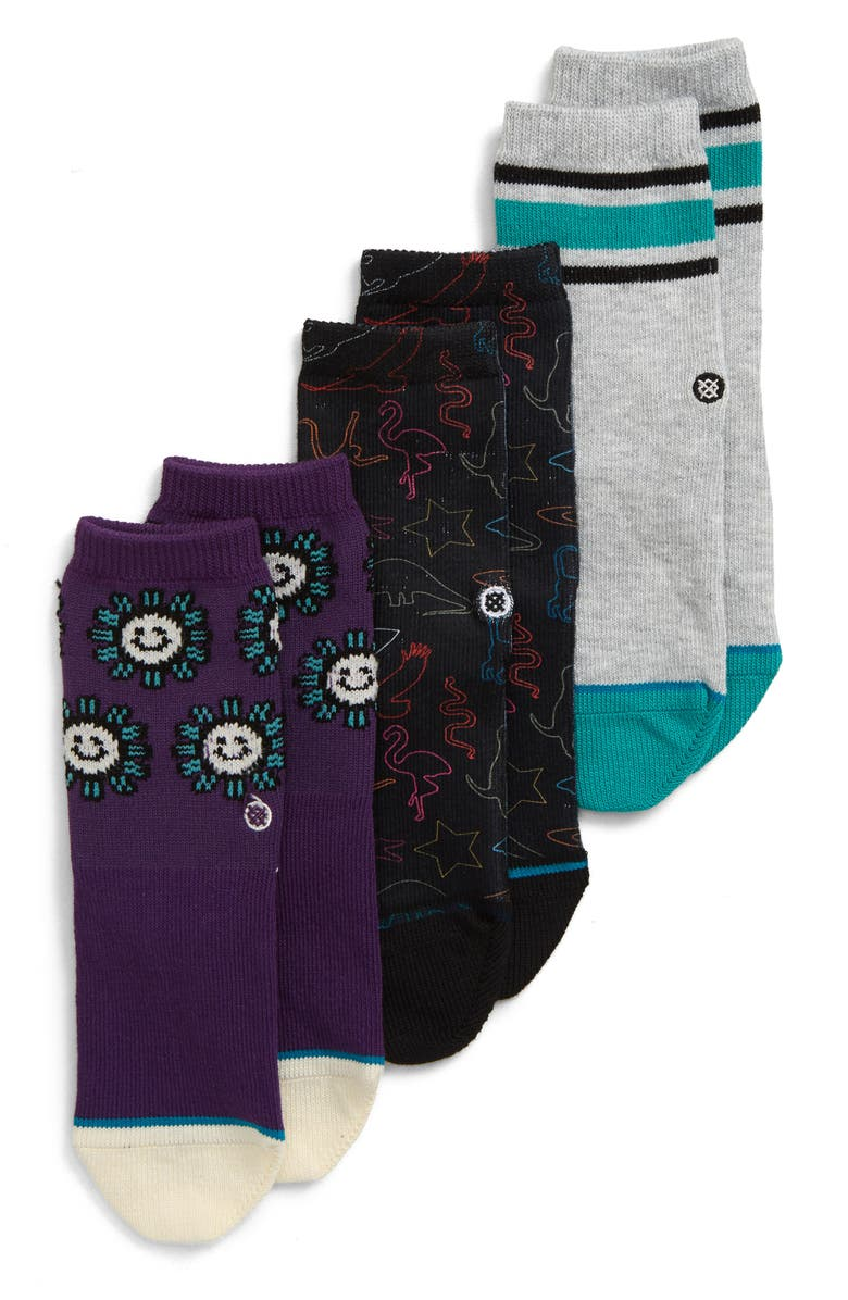 STANCE 3-Pack You Are Silly Socks, Main, color, 001