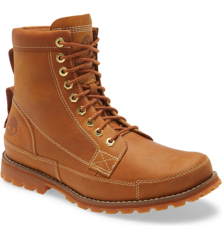 TIMBERLAND 6-Inch Leather Boot, Main, color, WHEAT FULL GRAIN