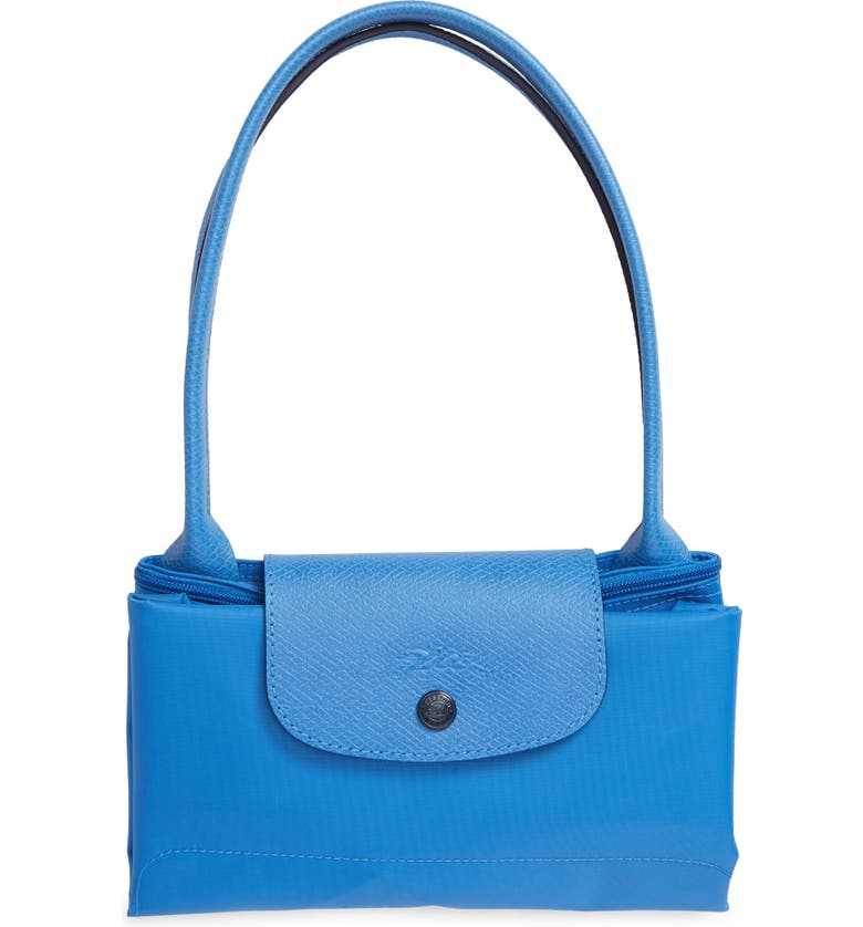 LONGCHAMP Le Pliage Club Small Shoulder Tote, Main, color, BLUE