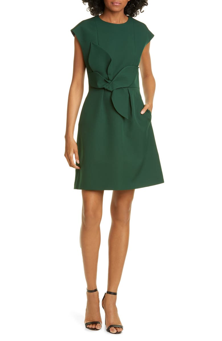 TED BAKER LONDON Polly Structured Bow Minidress, Main, color, 301