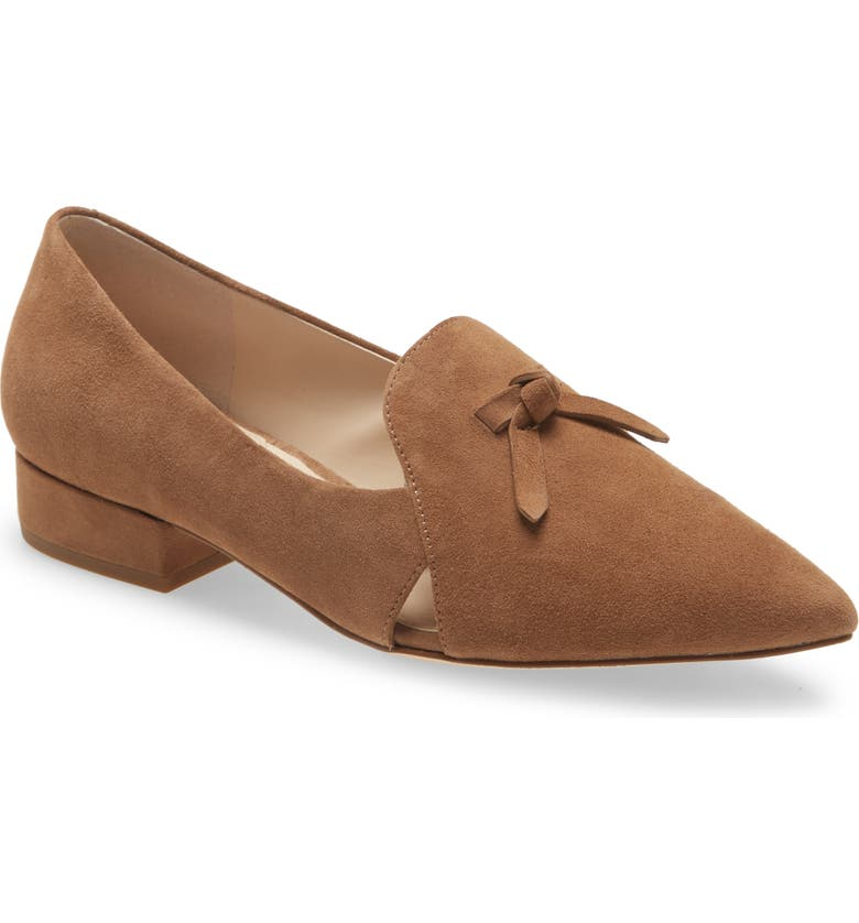 COLE HAAN Viola Skimmer Flat, Main, color, LIGHT WHISKEY SUEDE