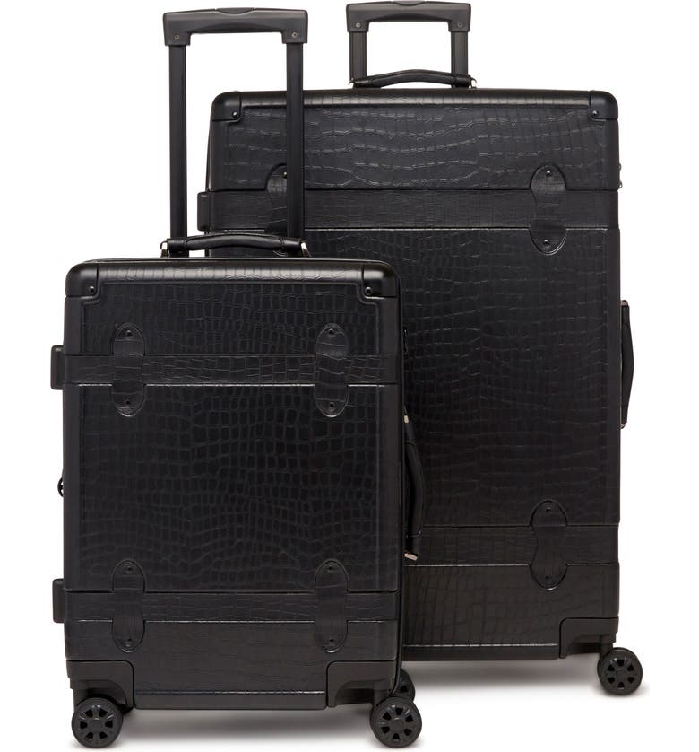 CALPAK 20-Inch & 28-Inch Trunk Rolling Luggage Set, Main, color, 001