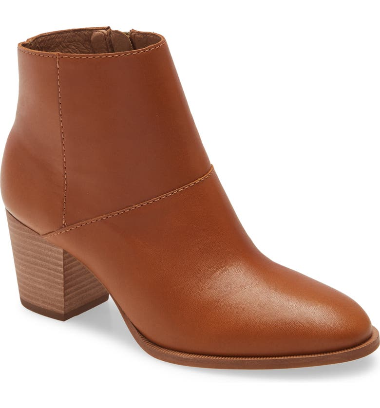 MADEWELL The Rosie Ankle Boot, Main, color, ENGLISH SADDLE LEATHER