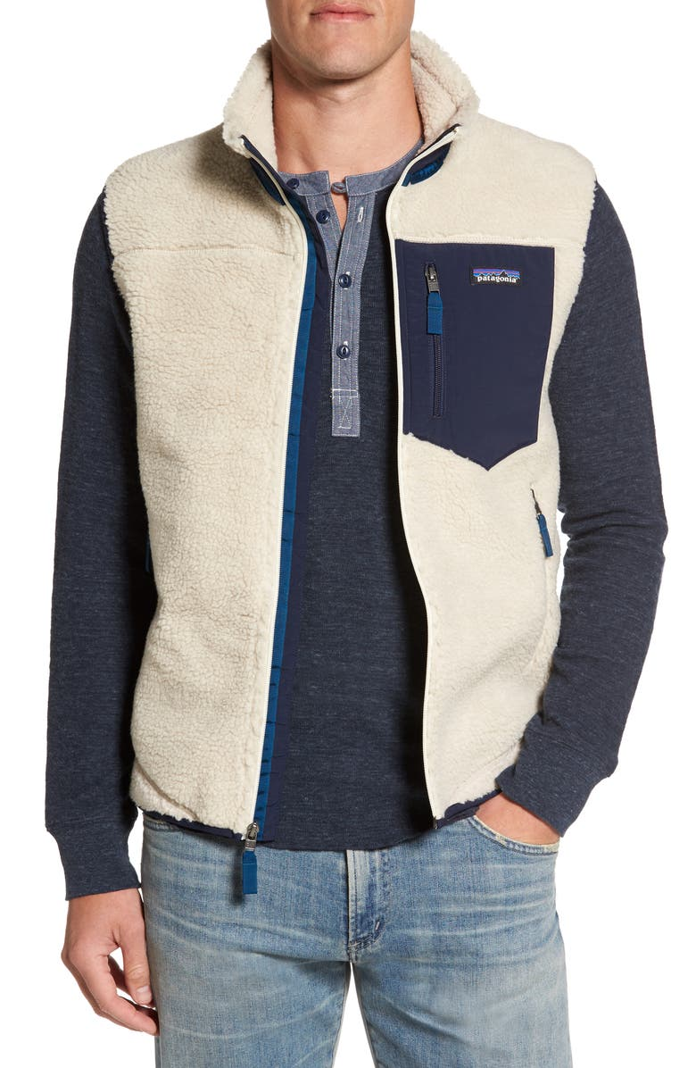 PATAGONIA Classic Retro-X<sup>®</sup> Windproof Vest, Main, color, NATURAL