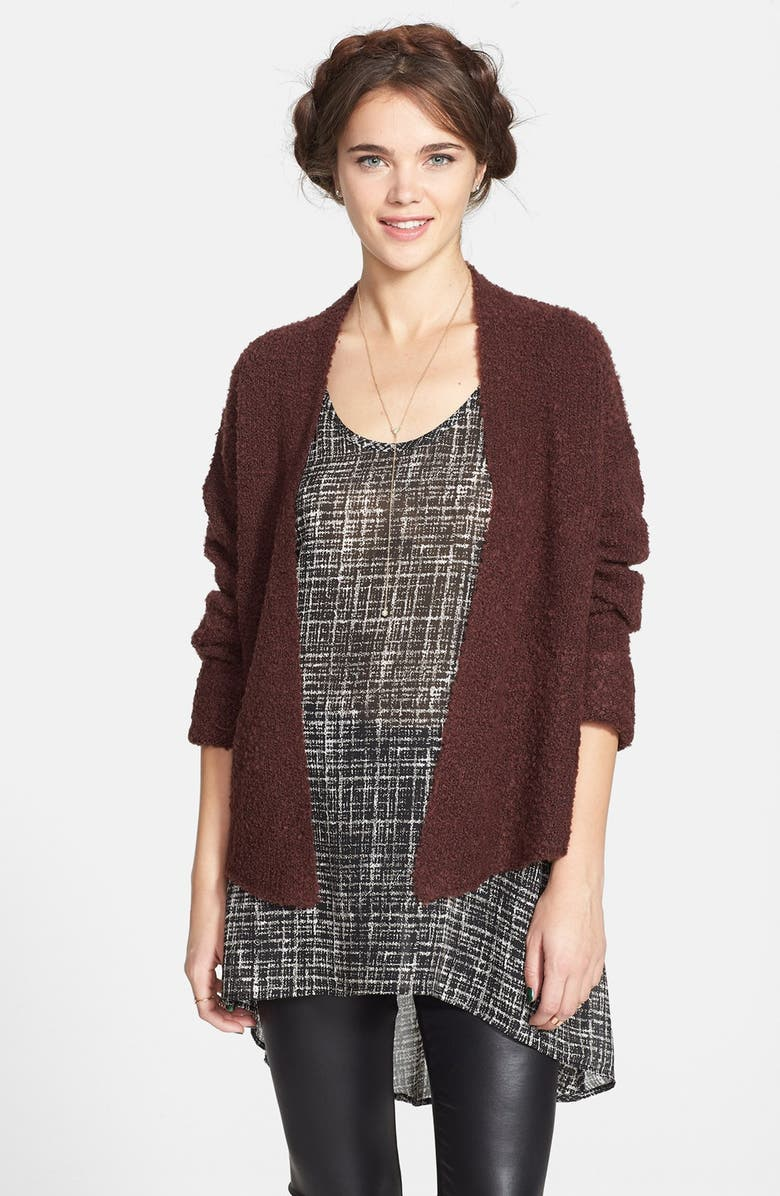 PAINTED THREADS Chiffon High/Low Tunic Tank, Main, color, 001