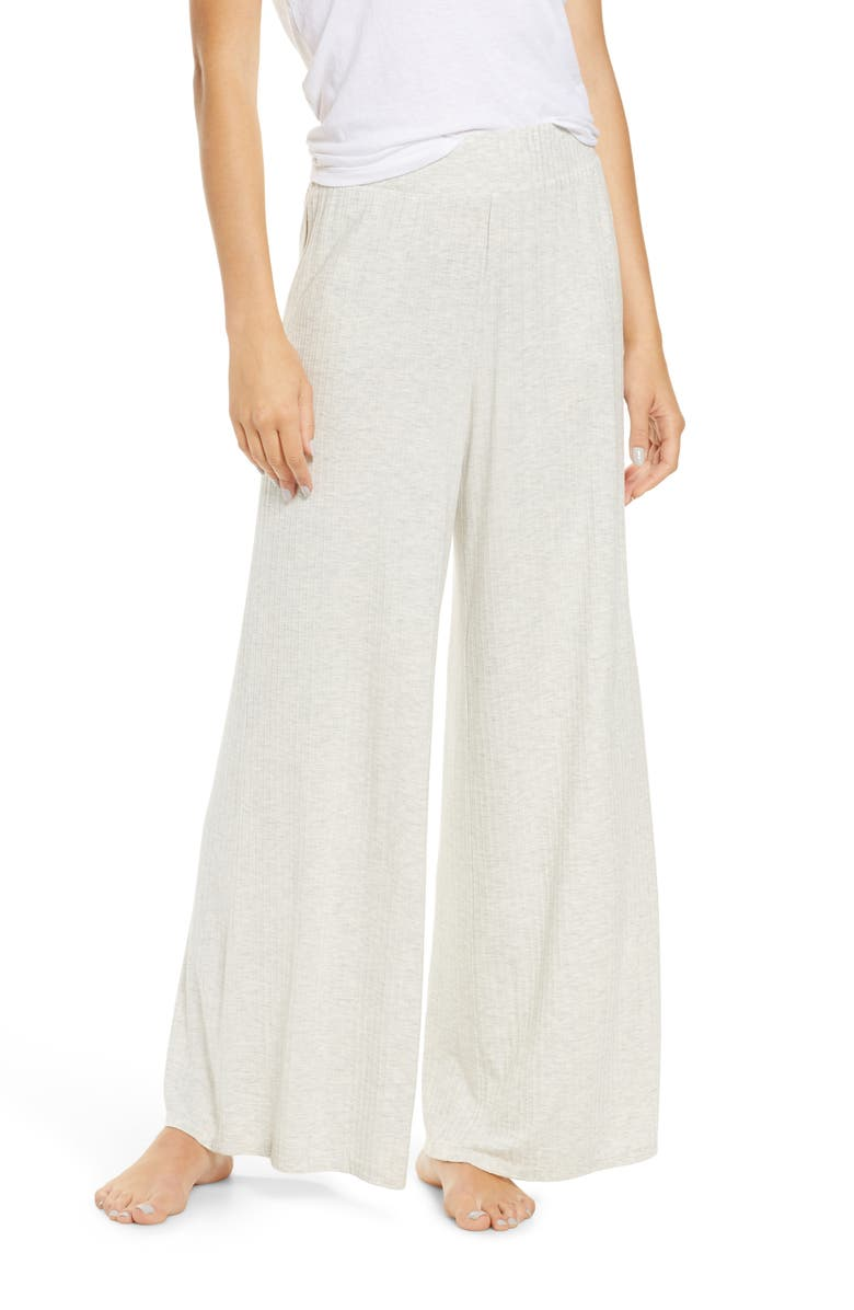 SOCIALITE Rib Wide Leg Lounge Pants, Main, color, 025