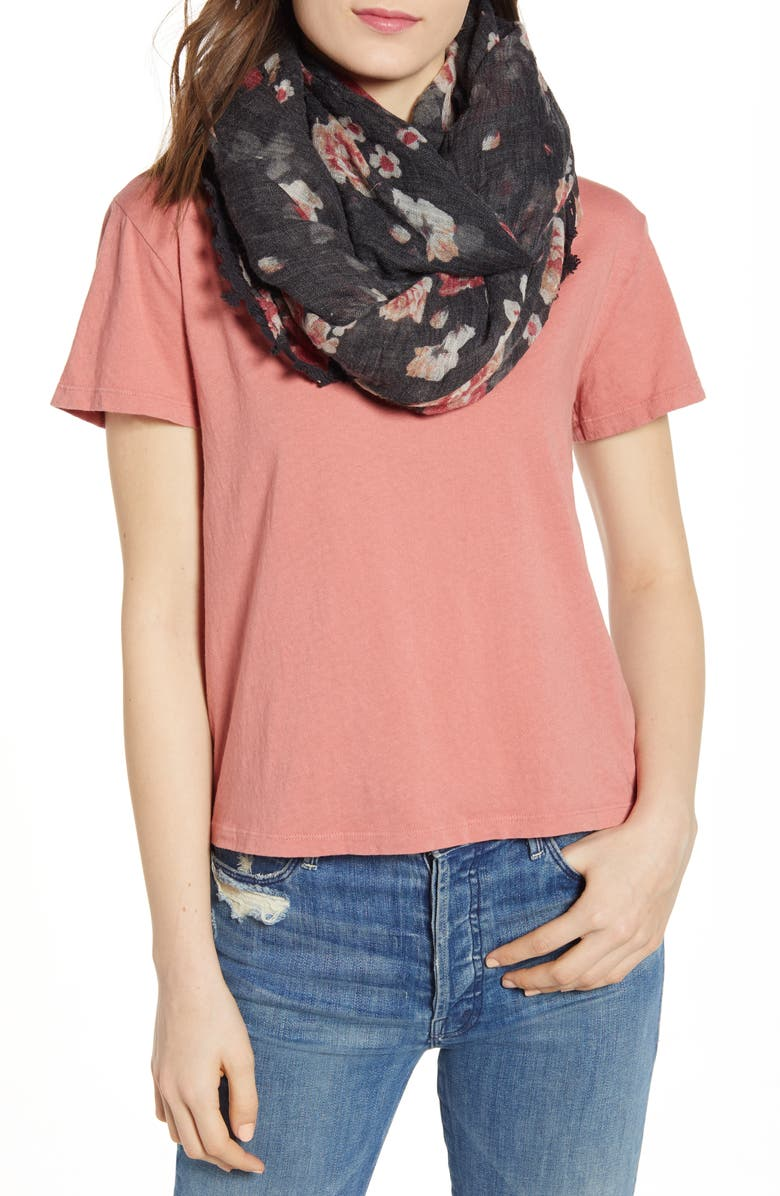 TREASURE & BOND Print Gauze Scarf, Main, color, 001
