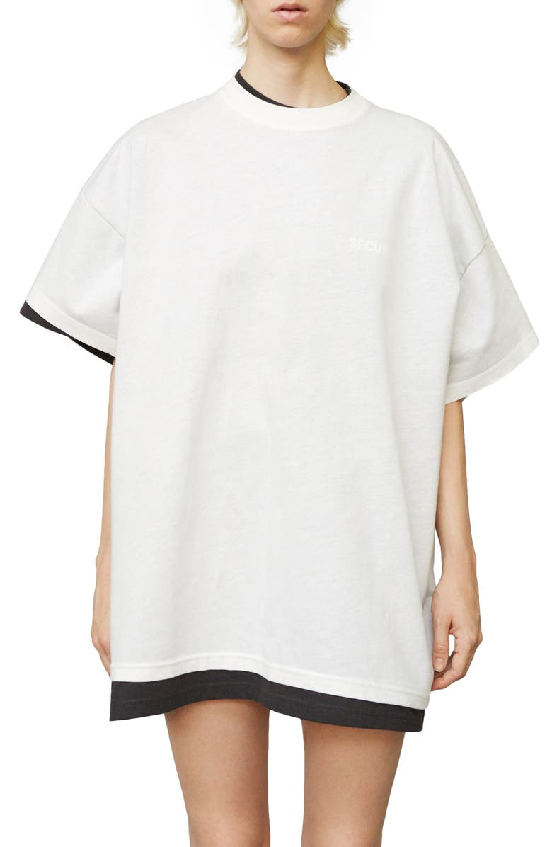 VETEMENTS x Hanes Oversized Double Tee, Main, color, 020