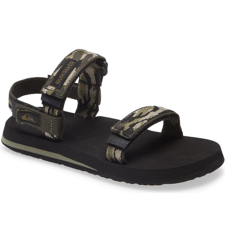 QUIKSILVER Quicksilver Monkey Caged Sandal, Main, color, GREEN/ BLACK/ GREEN