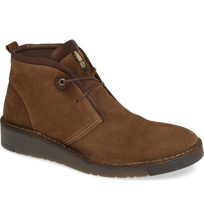 FLY LONDON Sion Water Resistant Chukka Boot, Main, color, SAND OIL SUEDE