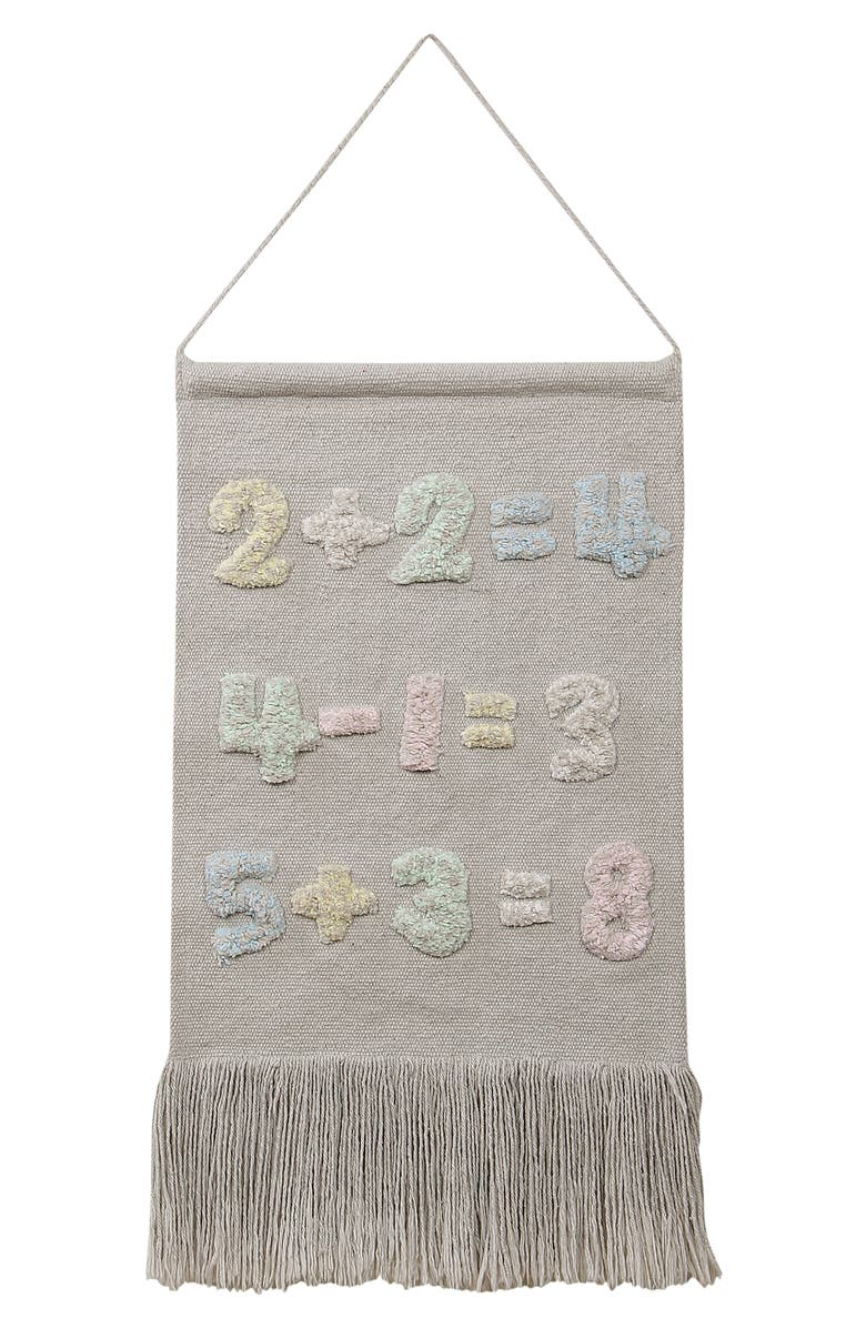 LORENA CANALS Numbers Wall Hanging, Main, color, Grey