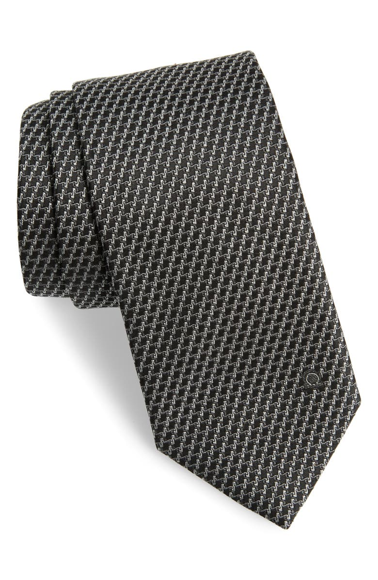 SALVATORE FERRAGAMO Geometric Silk Tie, Main, color, 094