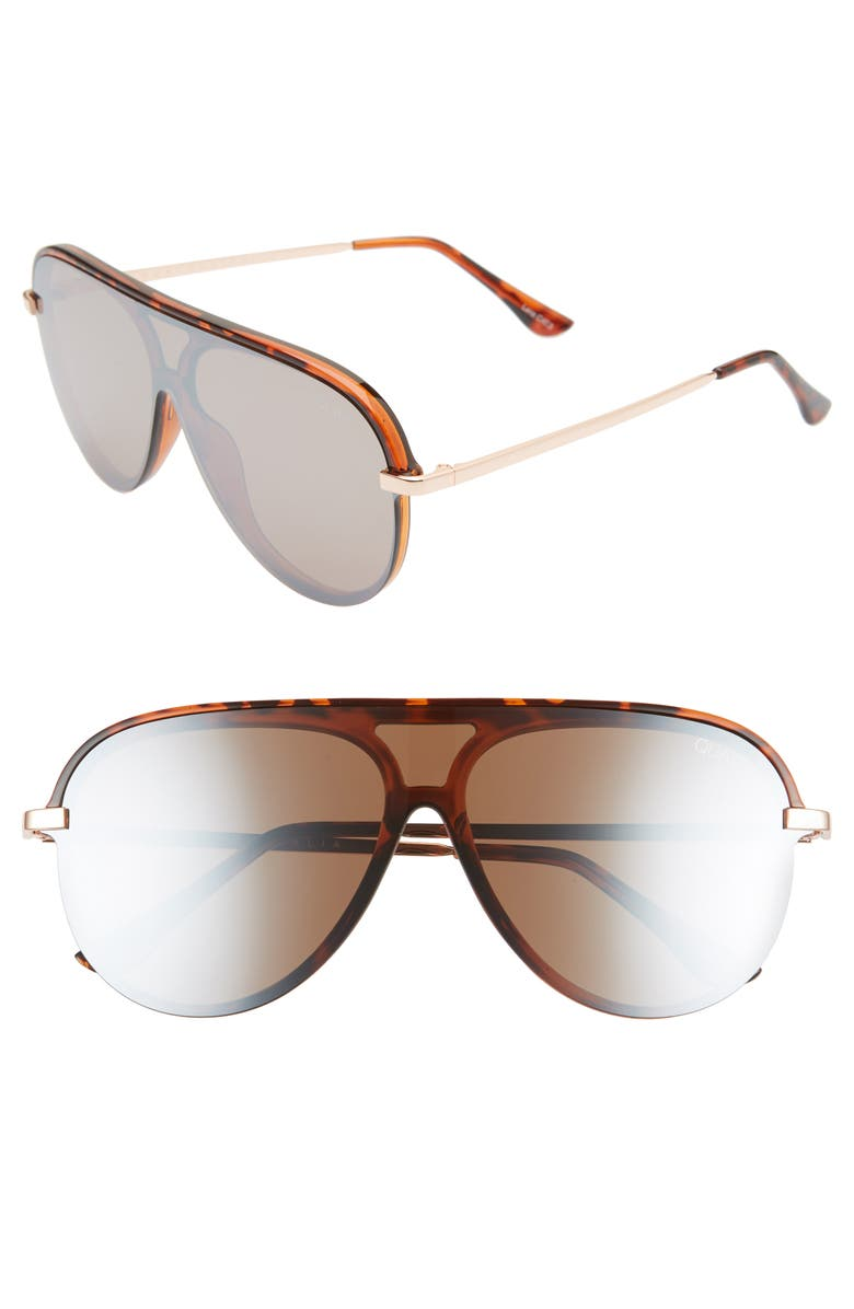 QUAY AUSTRALIA x JLO Empire 57mm Shield Sunglasses, Main, color, 205