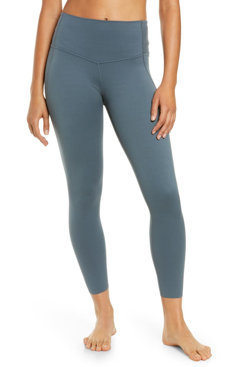ZELLA Renew 7/8 High Waist Leggings, Main, color, BLUE WEATHER