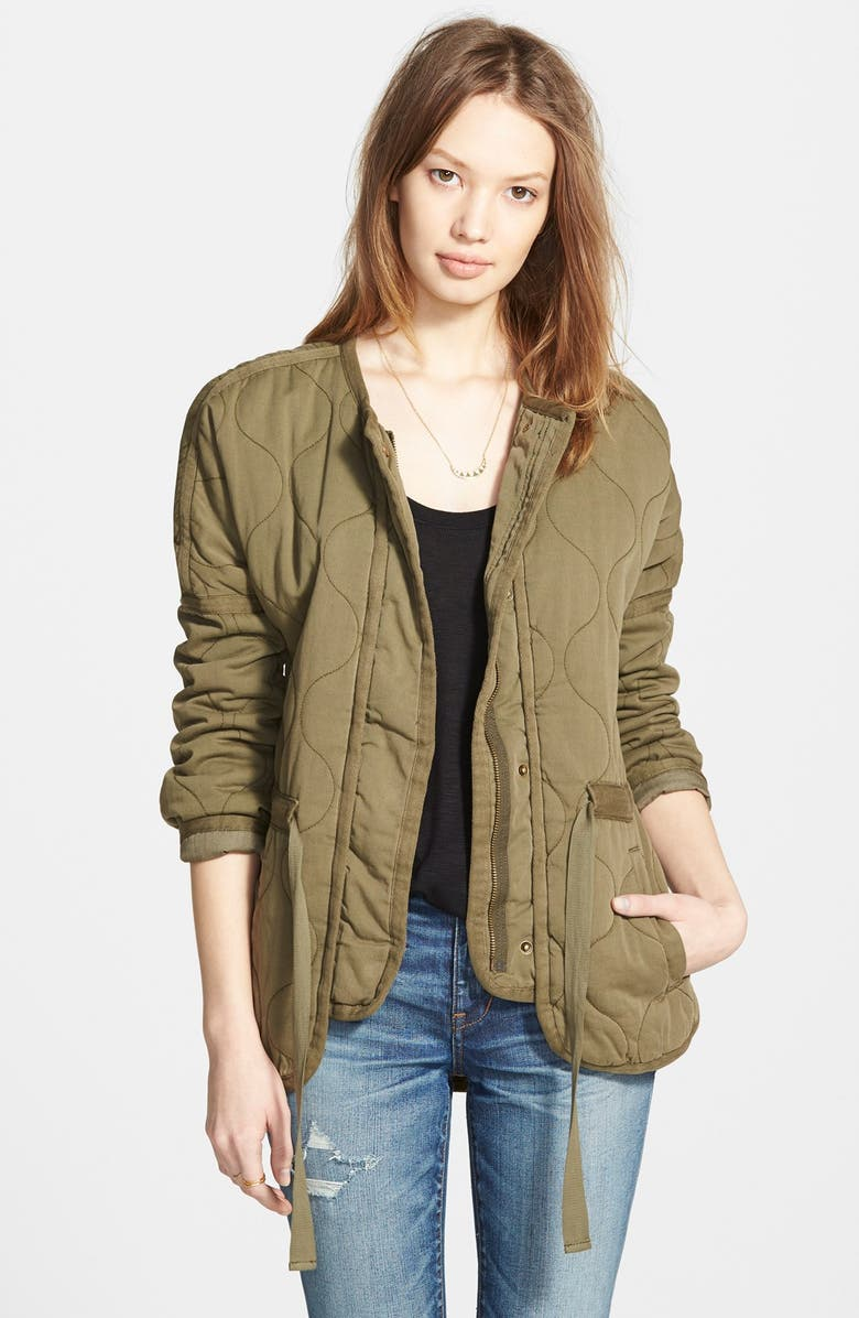 MADEWELL Quilted Drawstring Jacket, Main, color, BRITSH SURPLUS
