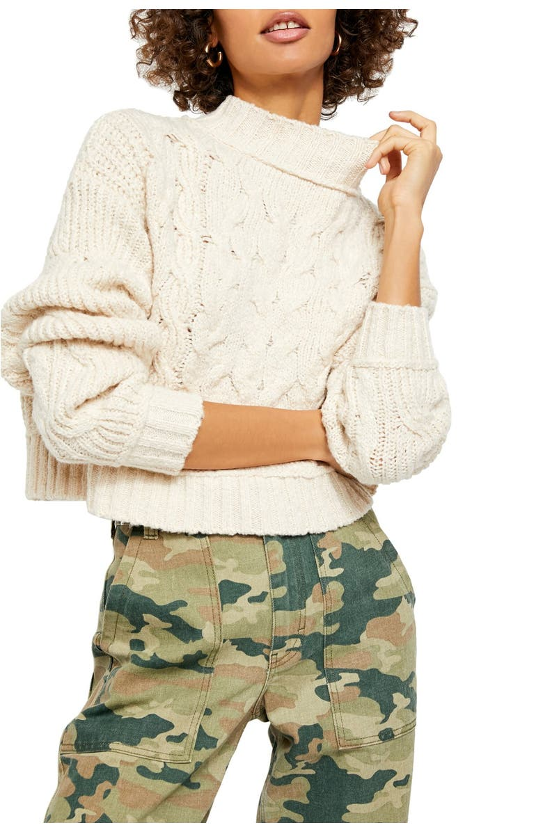 FREE PEOPLE Carousel Sweater, Main, color, IVORY