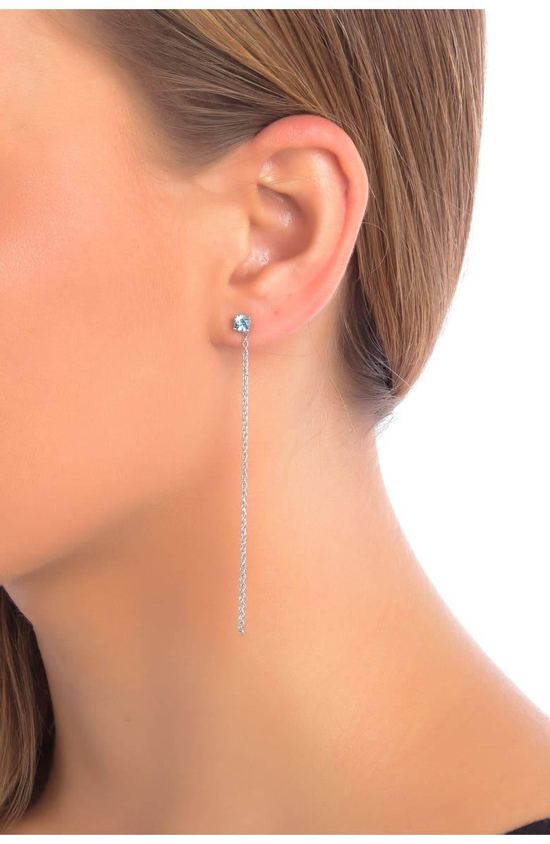 SAVVY CIE JEWELS Sterling Silver Chain Drop Earrings, Main, color, NO COLOR