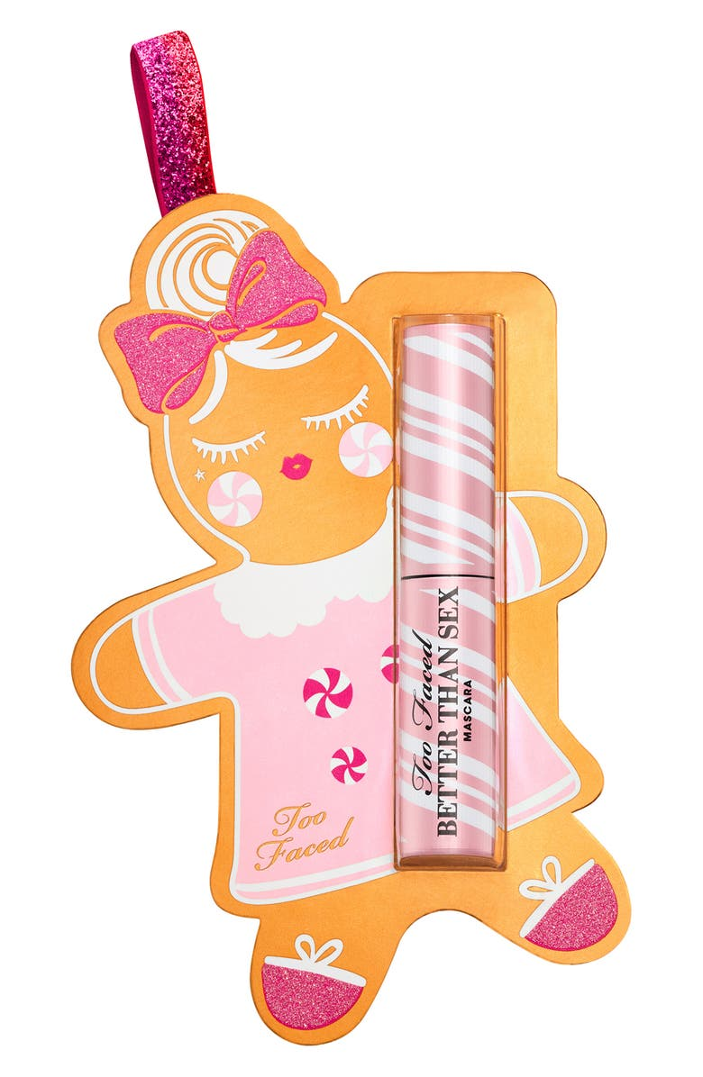 TOO FACED Deluxe Size Better Than Sex Mascara Ornament, Main, color, 000