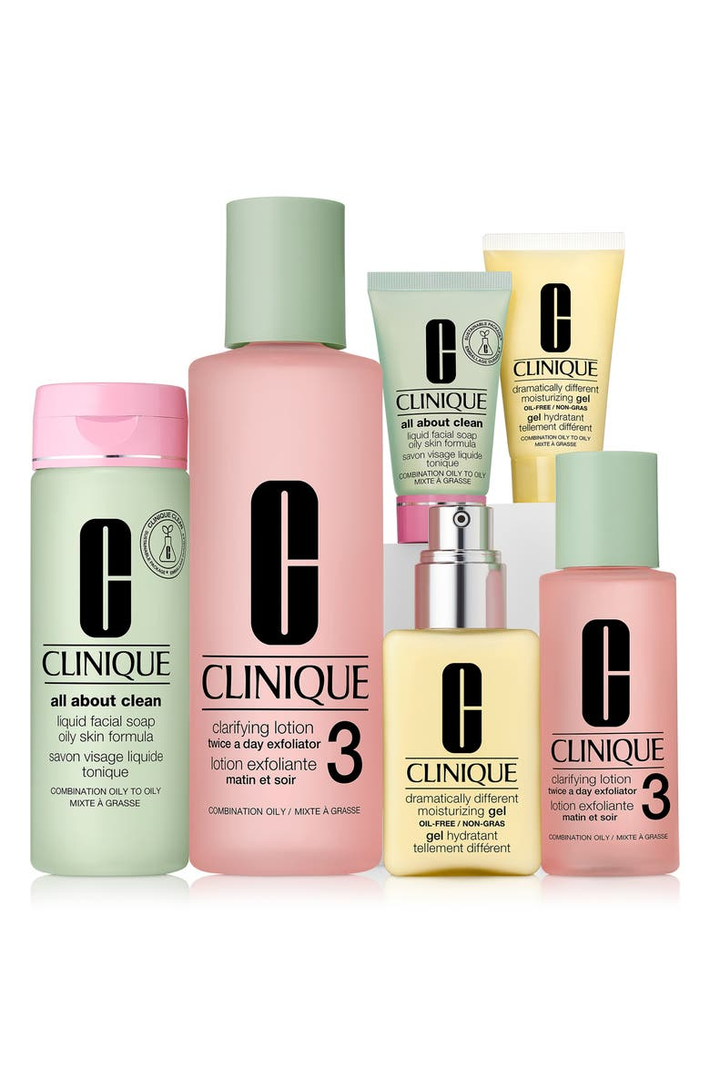 CLINIQUE Great Skin Everywhere Set for Oily and Oily Combination Skin Types, Main, color, NO COLOR