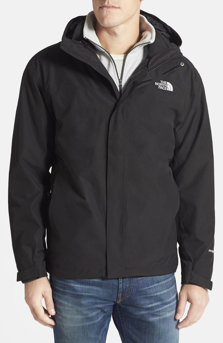 THE NORTH FACE 'Anden' TriClimate<sup>®</sup> Hooded 3-in-1 Jacket, Main, color, 001