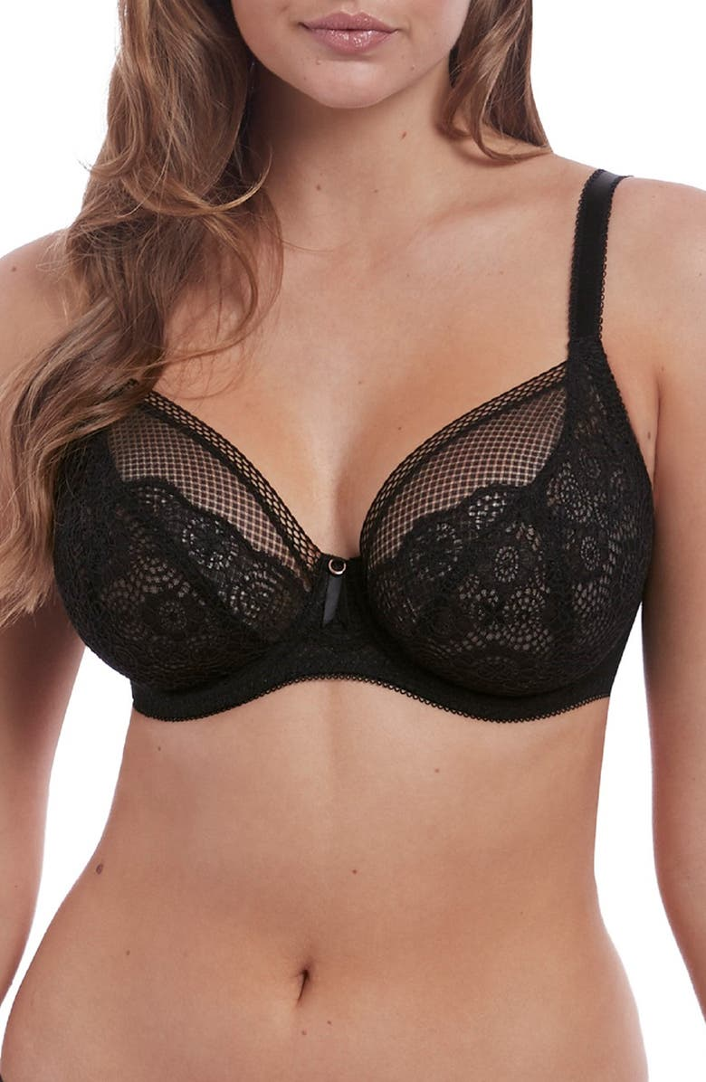 FREYA Expression Full Figure Underwire Plunge Bra, Main, color, 001