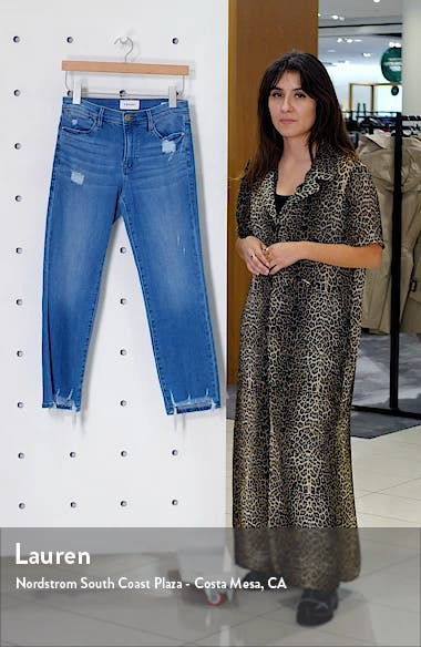 Le High Ripped Straight Leg Jeans, sales video thumbnail