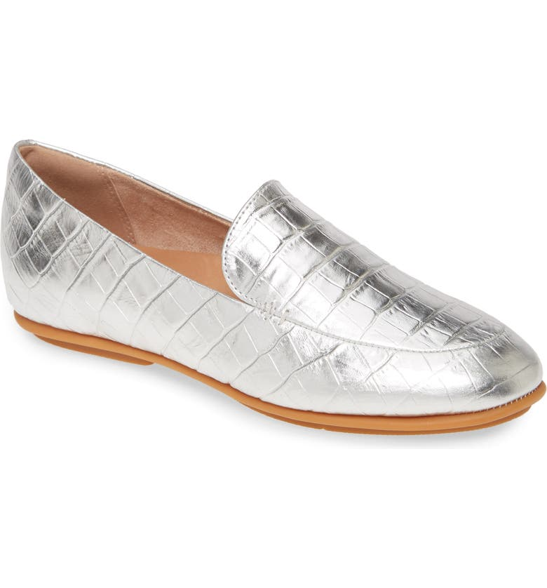FITFLOP Lena Croc Embossed Loafer, Main, color, 040