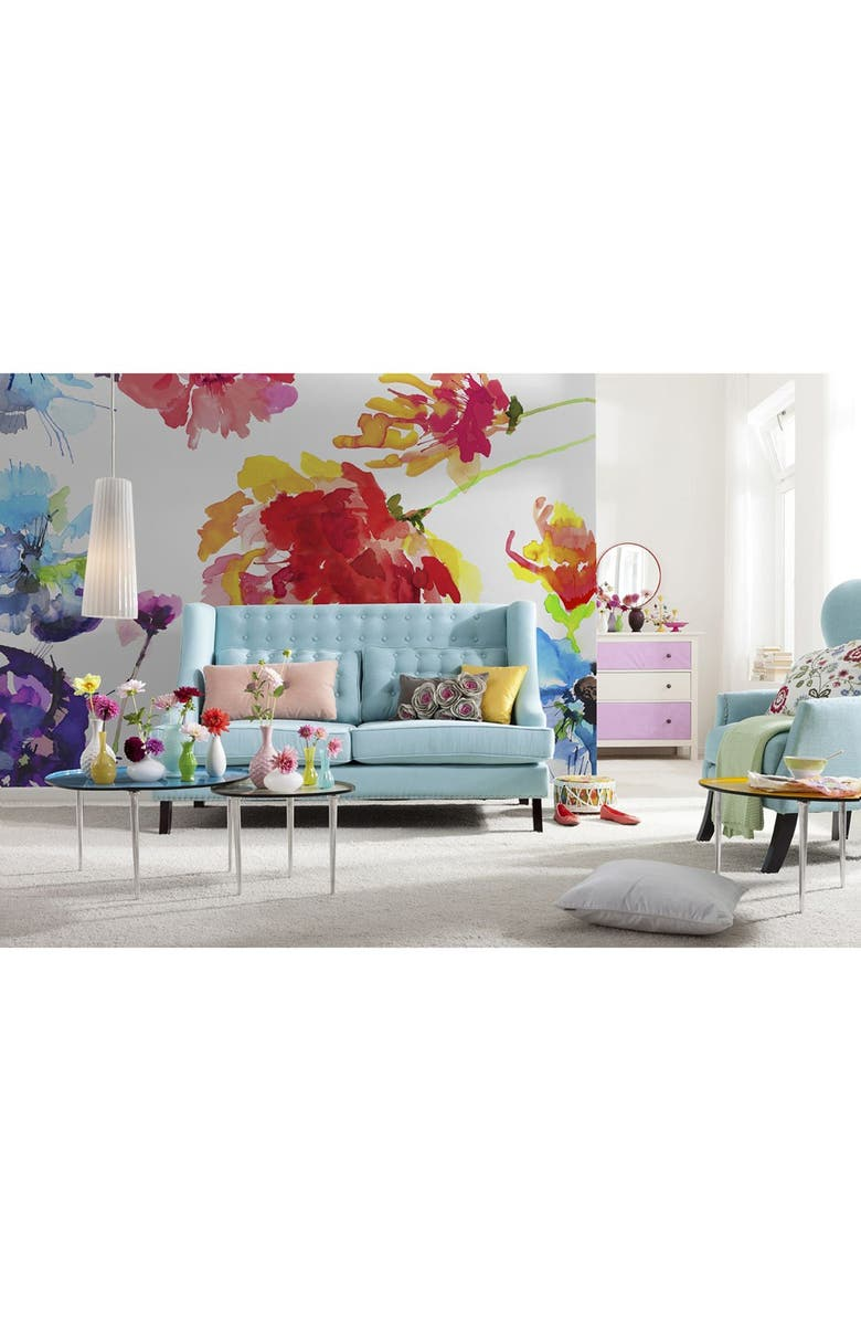 WALLPOPS 'Passion' Floral Wall Mural, Main, color, 600