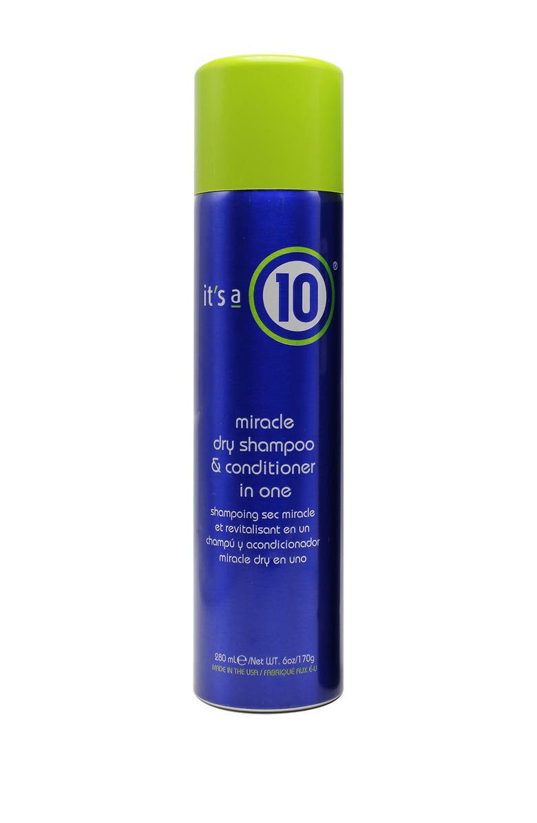 ITS A 10 Miracle Dry Shampoo & Conditioner In One - 6 oz, Main, color, NO COLOR