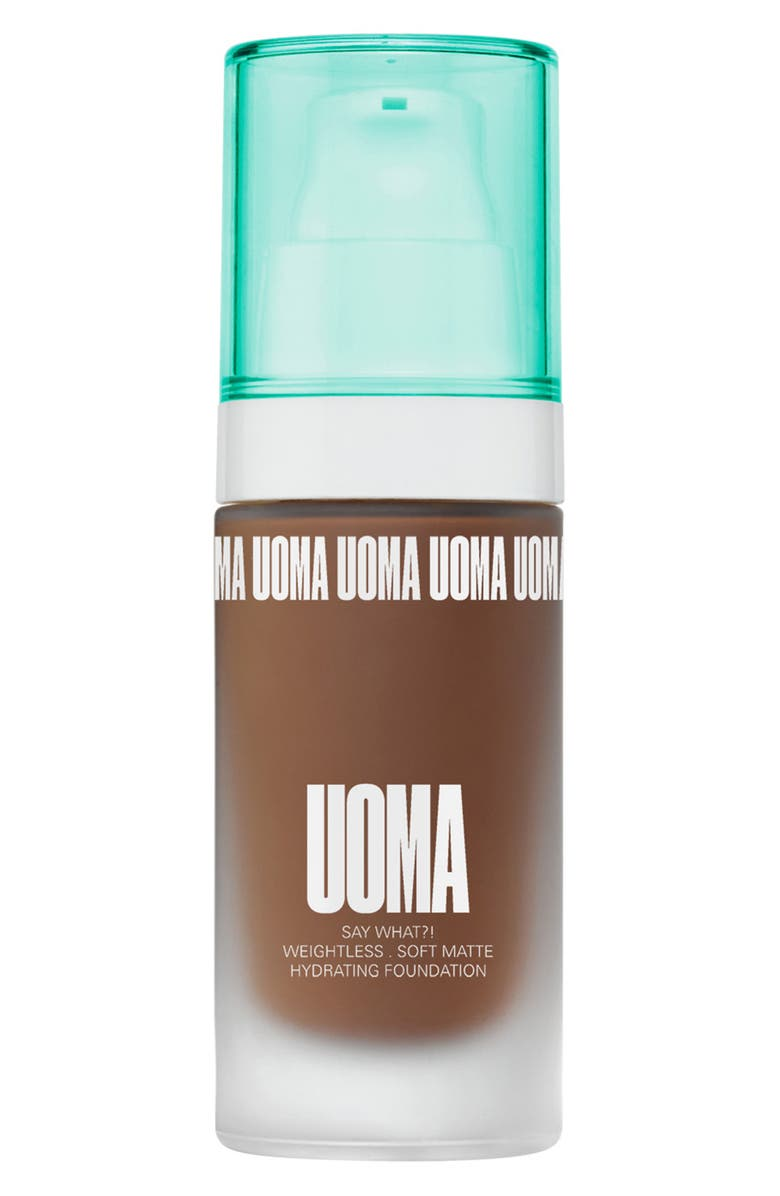 UOMA BEAUTY Say What?! Weightless Soft Matte Foundation, Main, color, BLACK PEARL T2C