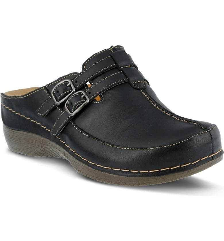 SPRING STEP Happy Clog, Main, color, BLACK LEATHER