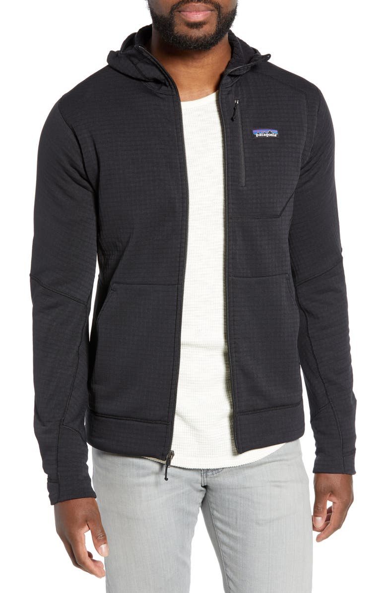 PATAGONIA R1<sup>®</sup> Full-Zip Hoodie, Main, color, 001