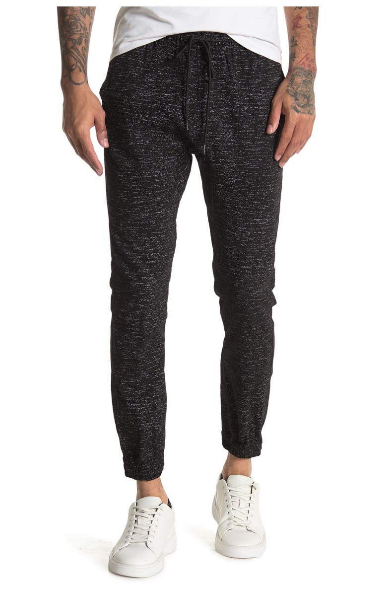 THE NARROWS Core Twill Joggers, Main, color, BLACK SPACE DYE PRINT