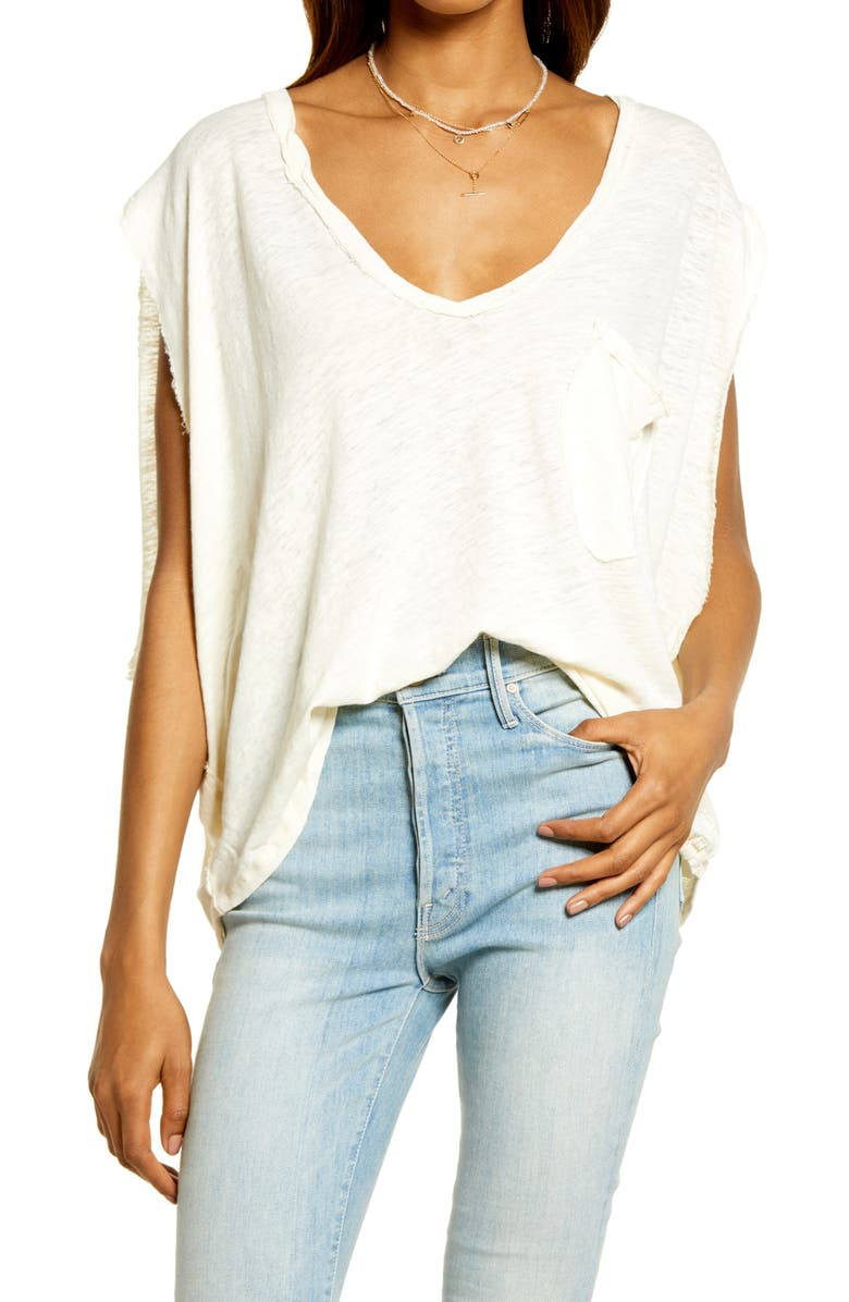 FREE PEOPLE Feelin' It Oversize T-Shirt, Main, color, SOLITARY STAR