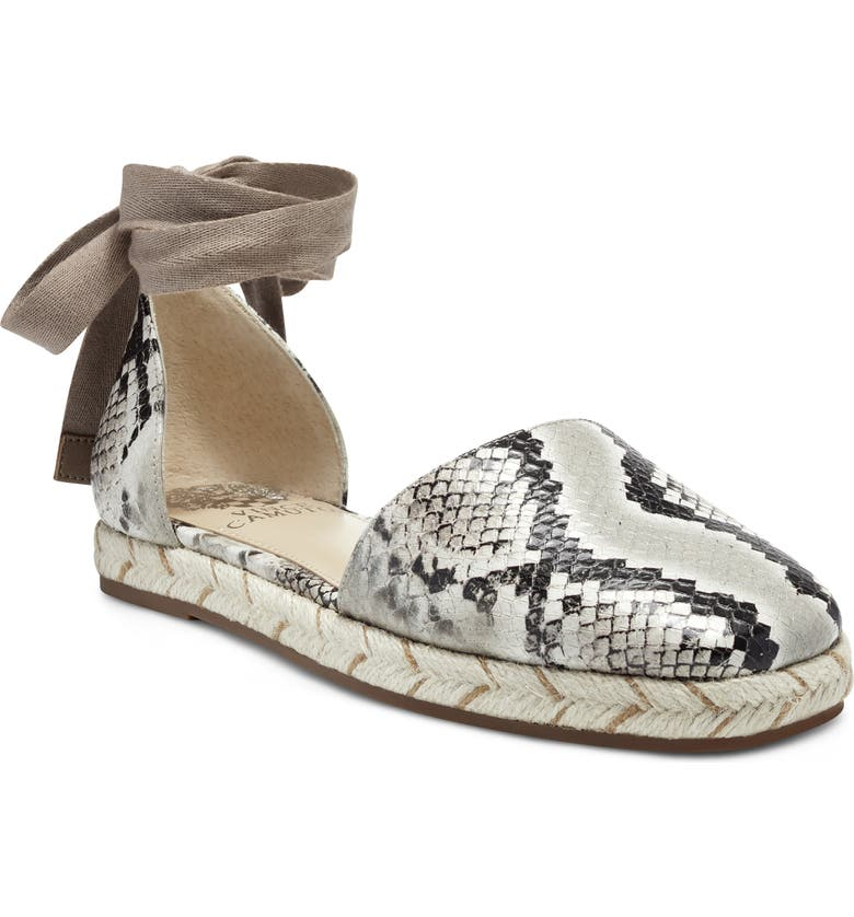 VINCE CAMUTO Jeliany Espadrille Flat, Main, color, TAUPE/ CREPE