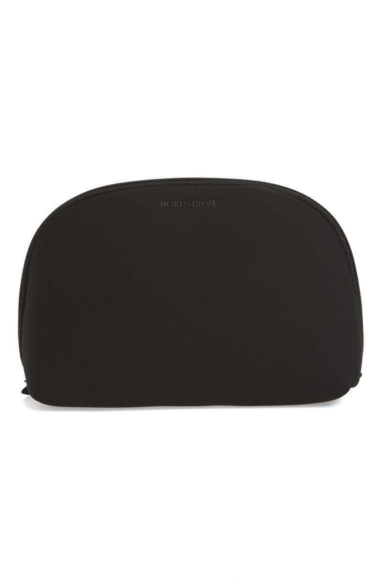 NORDSTROM Curved Cosmetic Bag, Main, color, 001