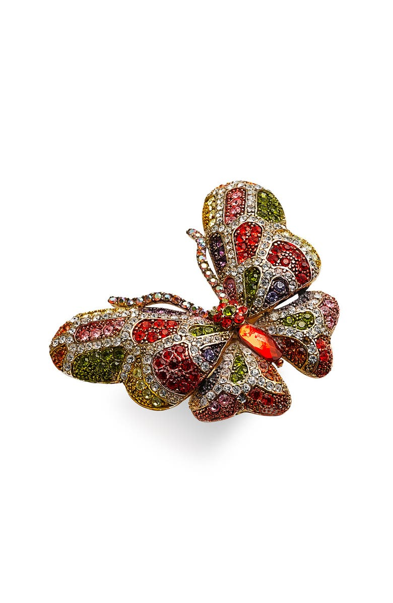 CARA Accessories 'Critters' Butterfly Crystal Stretch Ring, Main, color, 960