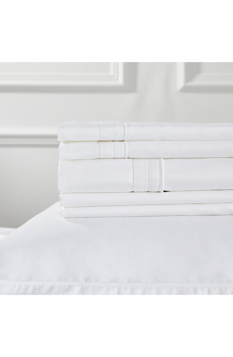 THE WHITE COMPANY Cavendish 800 Thread Count Flat Sheet, Main, color, WHITE