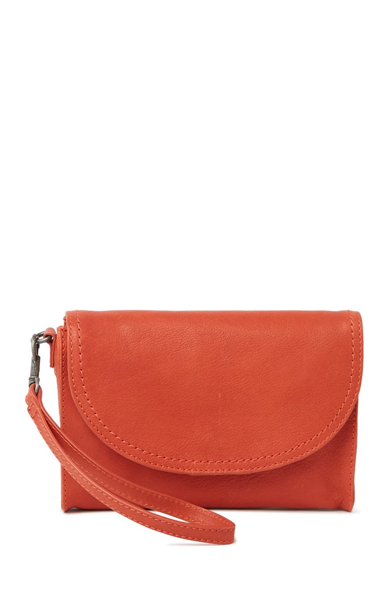 LUCKY BRAND Cosh Wristlet, Main, color, BRRED 03