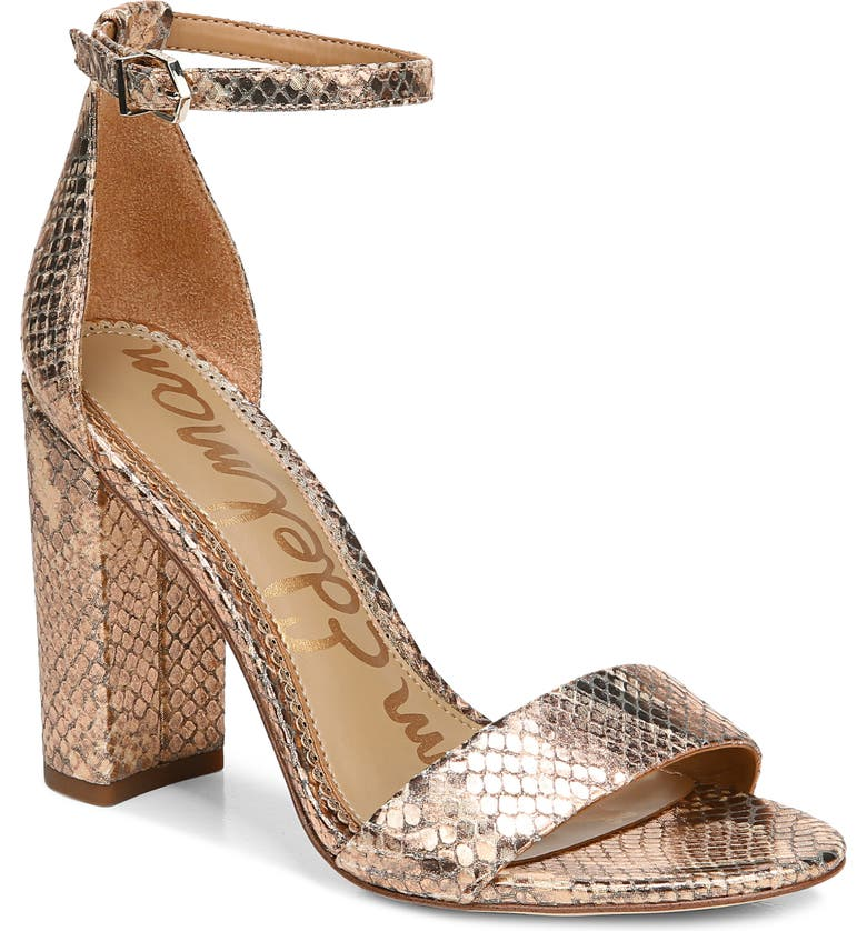 SAM EDELMAN Yaro Ankle Strap Sandal, Main, color, TOASTED COCONUT