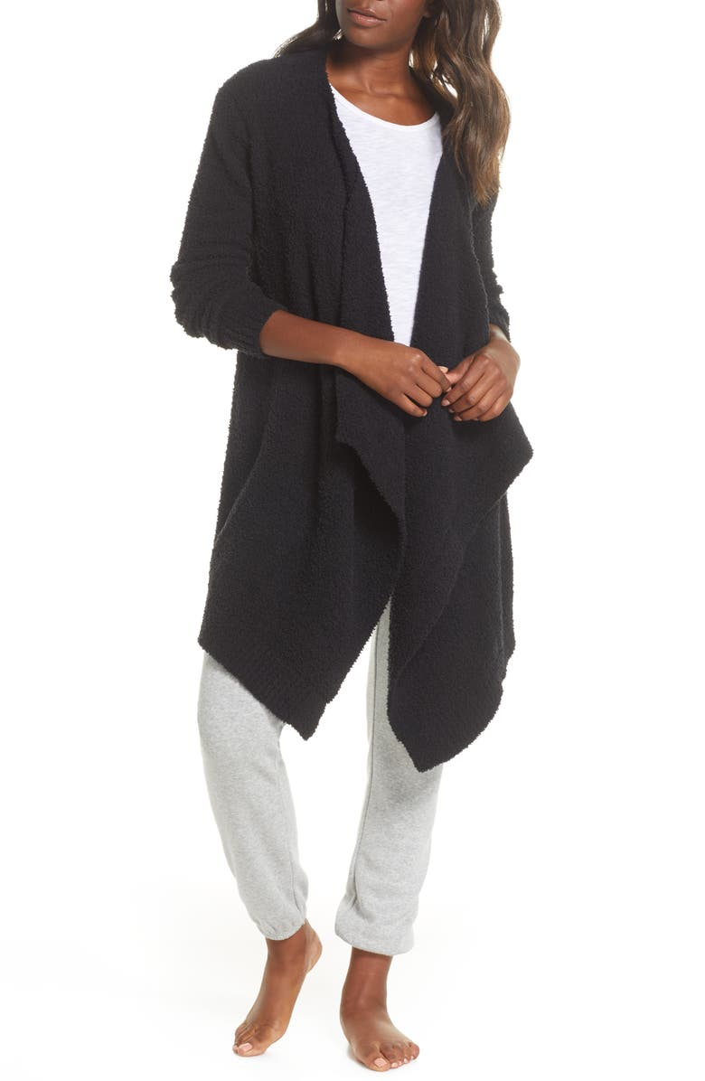 UGG<SUP>®</SUP> Phoebe Wrap Cardigan, Main, color, BLACK