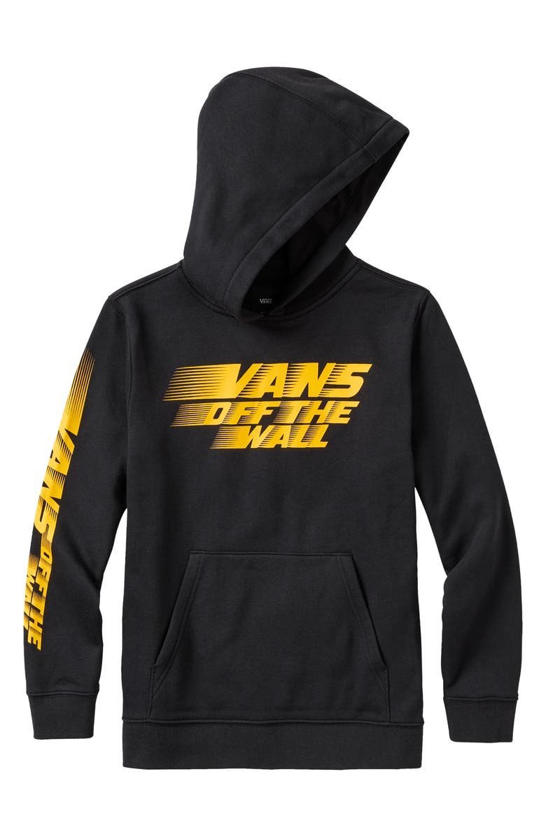 VANS Kids' Racers Edge Hooded Sweatshirt, Main, color, BLACK