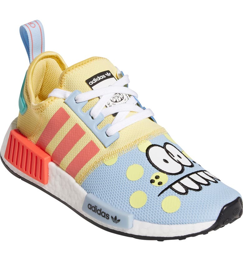 ADIDAS x Kevin Lyons NMD R1 Refined Sneaker, Main, color, SAND/ BRIGHT CORAL/ CLEAR SKY