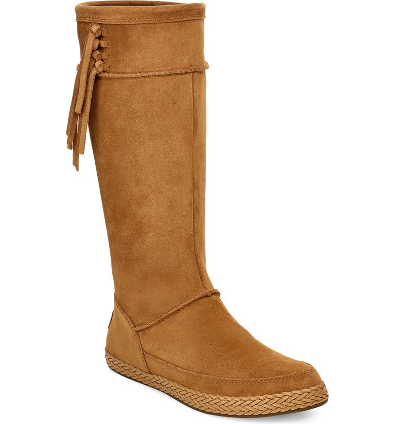 UGG<SUP>®</SUP> Emerie Tall Boot, Main, color, CHESTNUT SUEDE