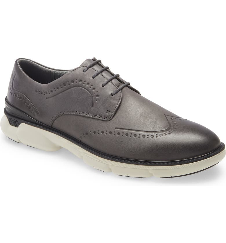 JOHNSTON & MURPHY XC4<sup>®</sup> Tanner Waterproof Wingtip Derby, Main, color, GRAY FULL GRAIN WP LEATHER