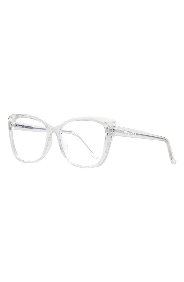 FIFTH & NINTH Madison 50mm Blue Light Filtering Glasses, Main, color, CLEAR