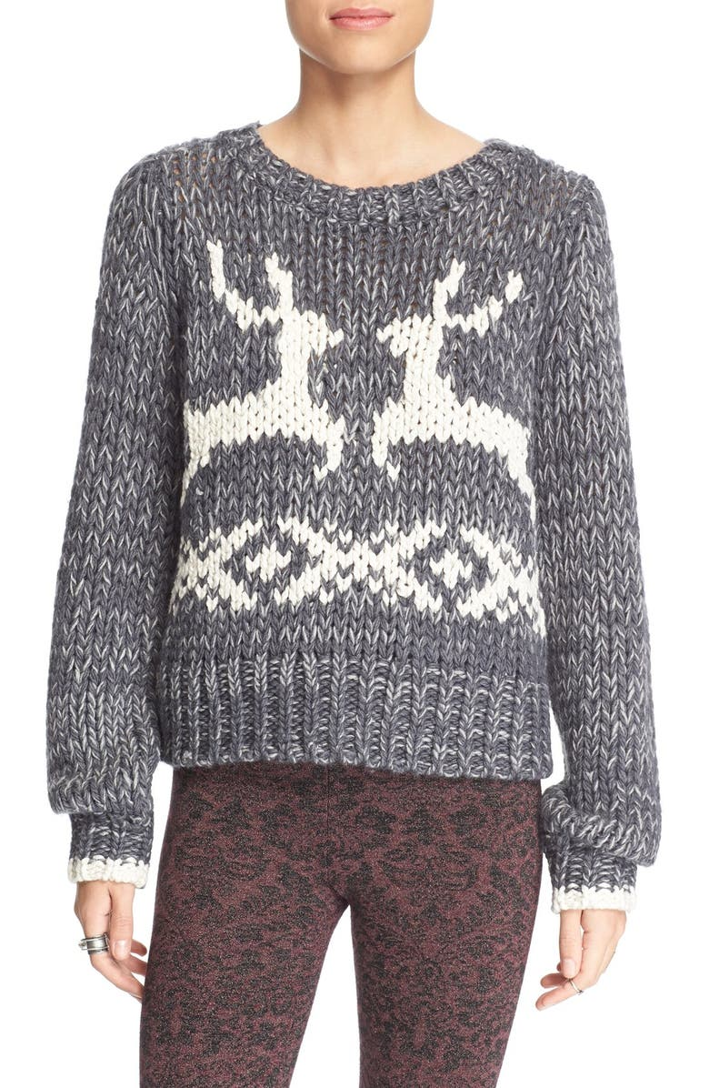 FREE PEOPLE 'Dancer and Prancer' Sweater, Main, color, 020