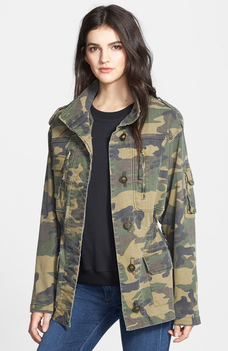 SAM EDELMAN Camo Jacket, Main, color, 300