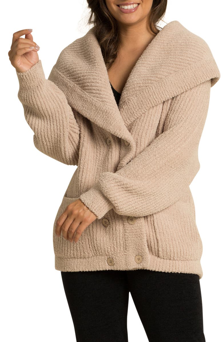 BAREFOOT DREAMS<SUP>®</SUP> CozyChic<sup>™</sup> Double Breasted Cardigan, Main, color, 281